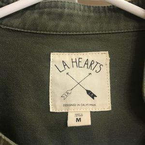 La Hearts Jackets & Coats - Like new asymmetrical zip jacket